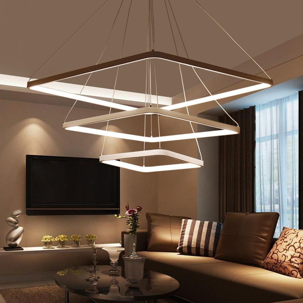 Modern LED Pendant Lights Hanging Lamp for Living room Aluminum AC90-260V LED Pendant Lighting Dimmable With Remote Lamps