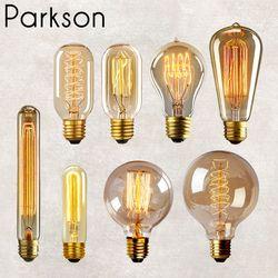 Vintage Edison Ampoule E27 Rétro Lampe 220 v 40 w Lampada Ampoule Cru Lampe Edison Ampoule À Incandescence Lumière ST64 Filament lumière Ampoule