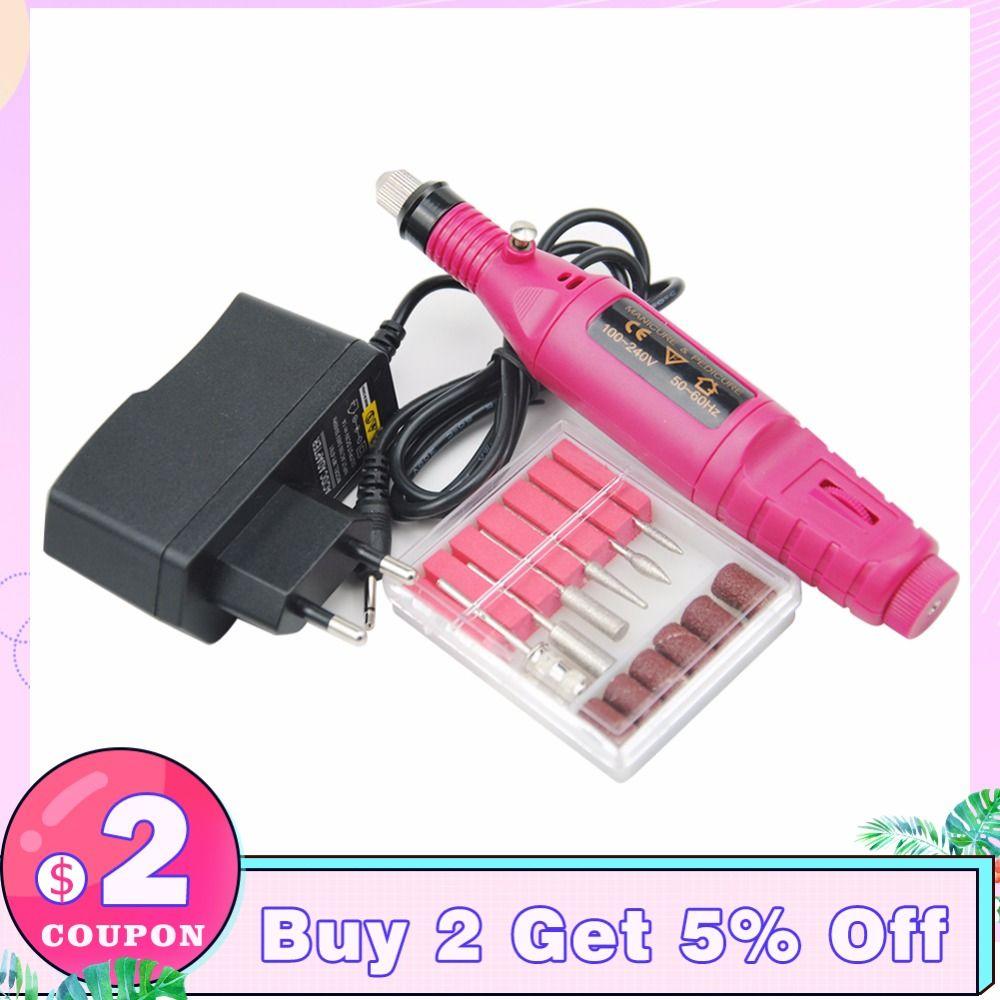 Mini Electric Milling Cutter For Manicure 20000RPM Nail Drill Bits Manicure Machine Mini Drills Pen Drill Bits Nail Art Tools
