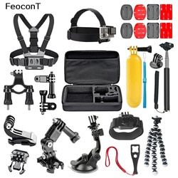 Feocont Action Camera Accessories Set Action Cam Mount Underwater Camera Float Bicycle-frame For Gopro Hero/Sjcam/Yi 4k