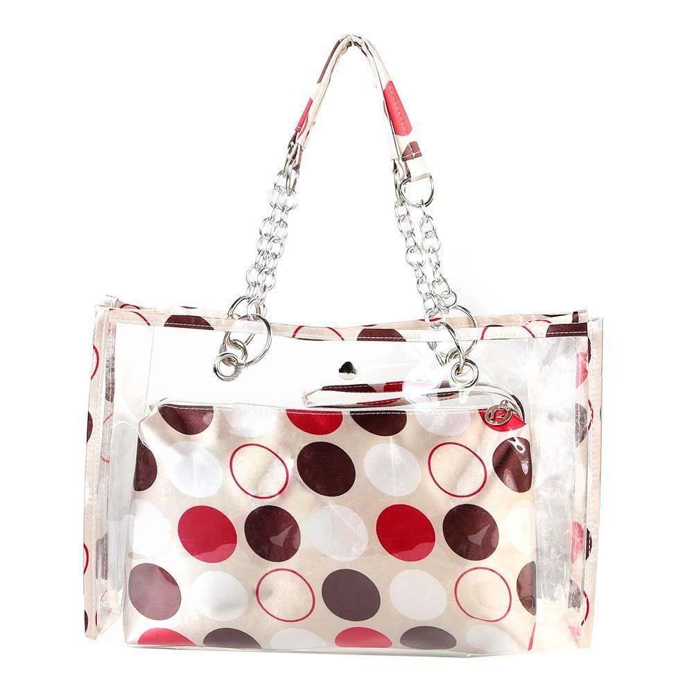 Fggs-transparente bolsa de playa de moda bañadores carpeta Bolsos de hombro bolsa de trabajo ocasional para las mujeres