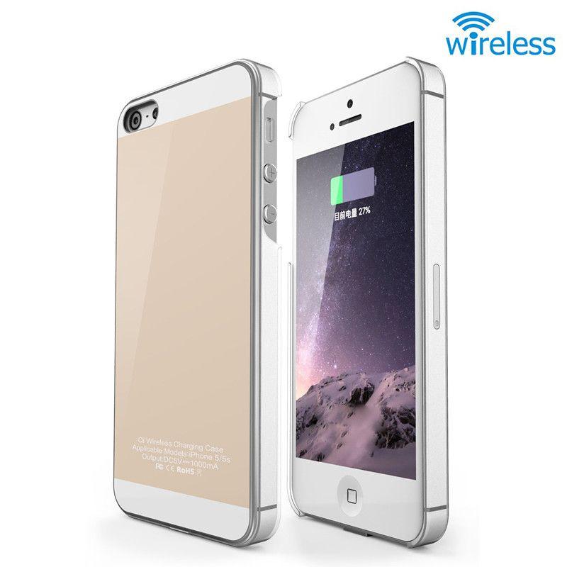 Qi chargeur sans fil récepteur étui pour iphone 5 5 S SE 6 6 s 6 6 S Plus TPU étui de couverture de téléphone souple utilisé sans fil chargeur de charge T0910