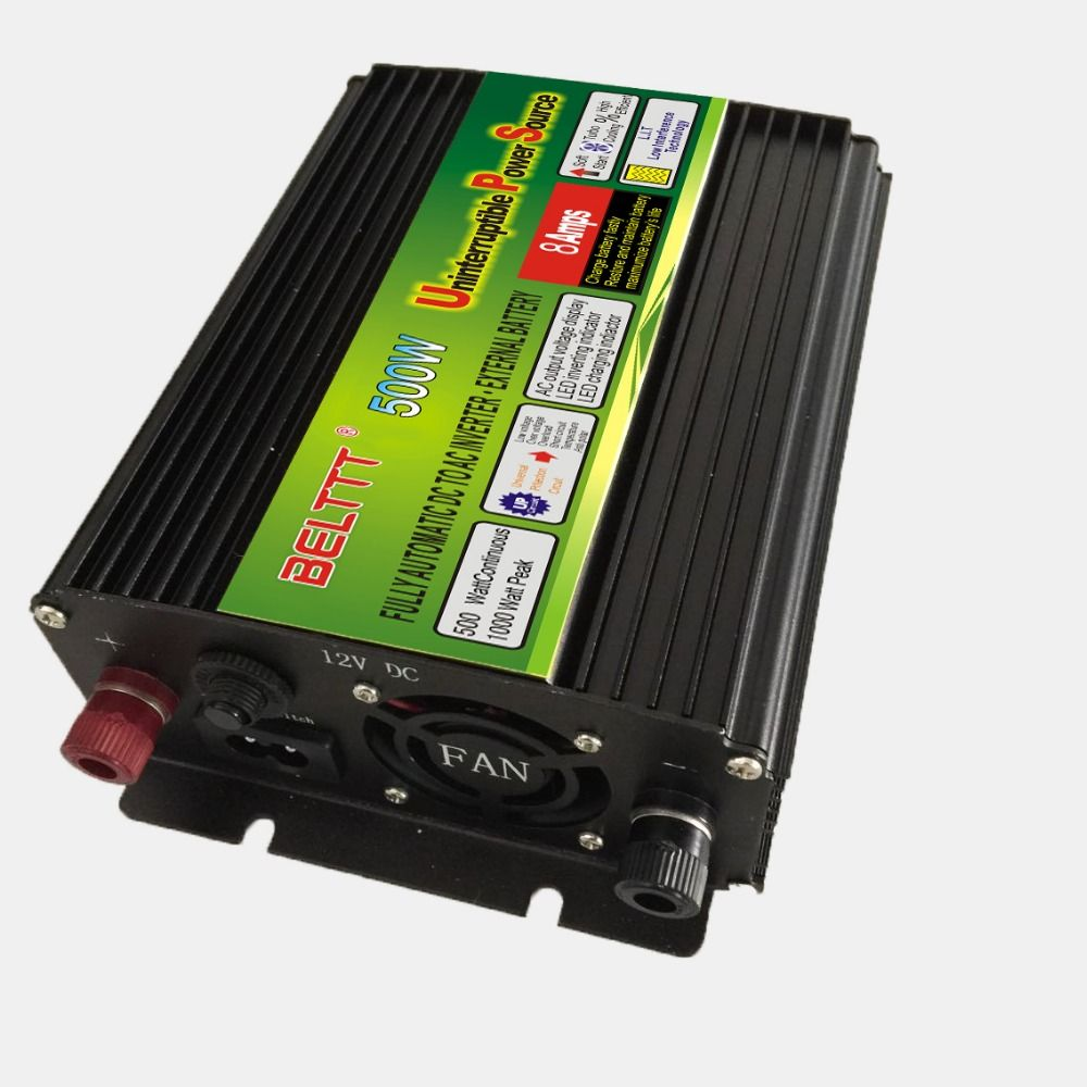 Free Shipping dc12v to ac 220v/230v 500W UPS power inverter with battery charger