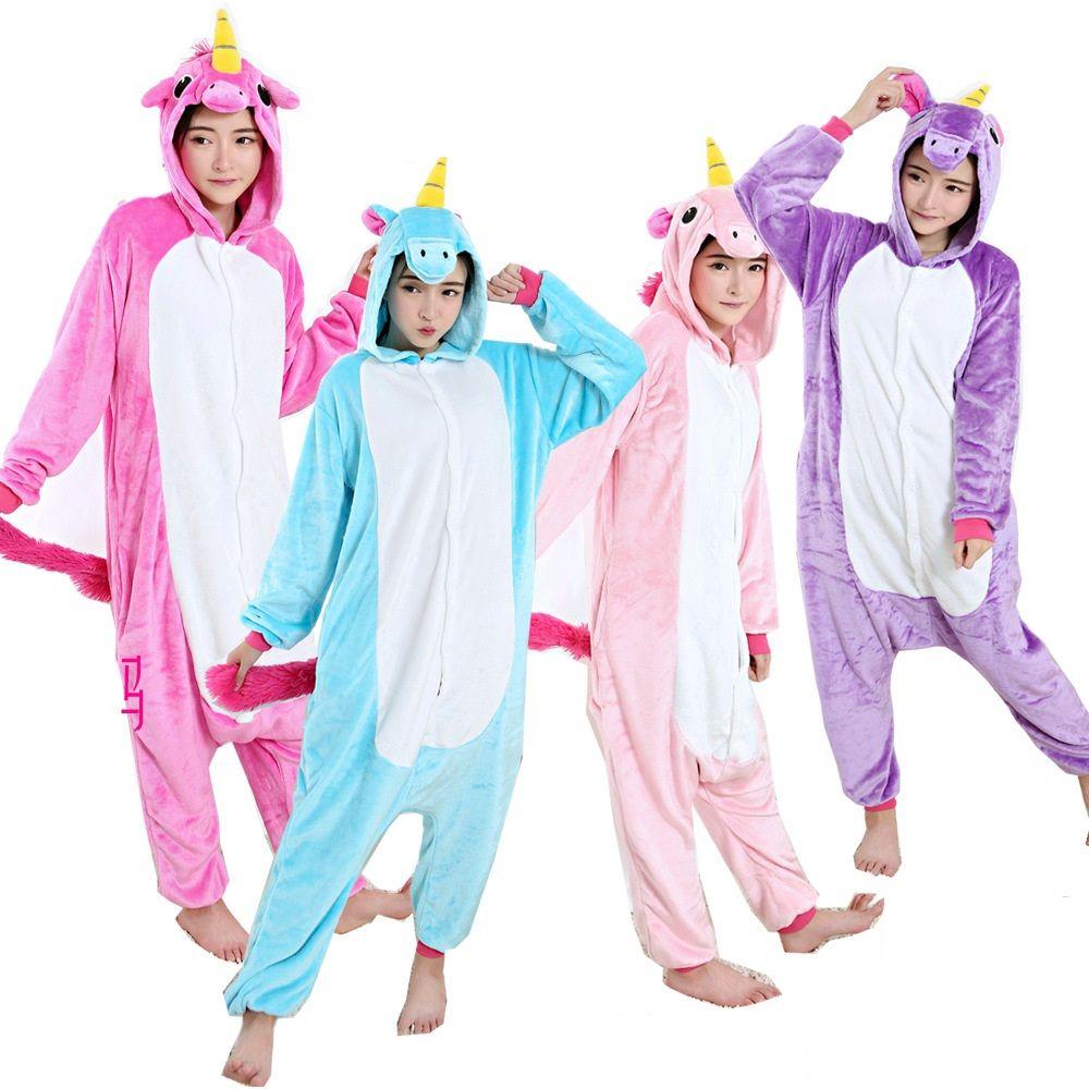2017, Новая мода пижамные комплекты Для женщин пижамы мультфильм Единорог tenma Pegasus Onesies для взрослых животных Пижама Рождество Косплэй