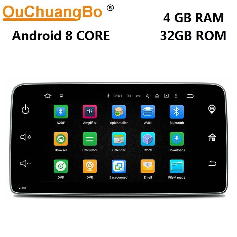 Ouchuangbo 9 inch radio gps navigation android 8.0 multiemdia player for Mercedes Benz smart 2015 2016 with USB 8 core 4GB+32GB