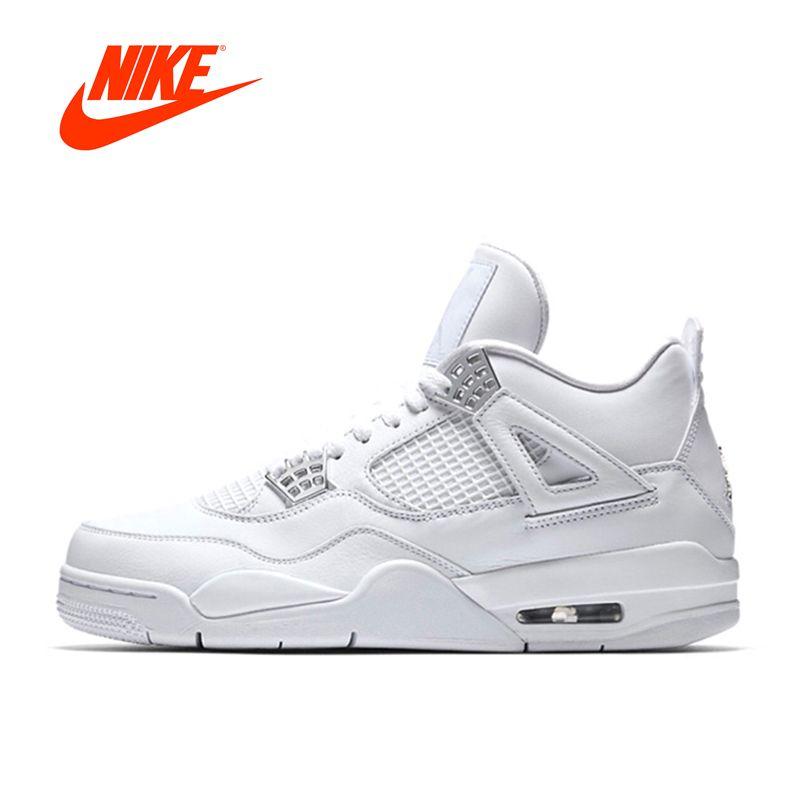 Neue Ankunft Authentic Nike Air Jordan 4 Laser AJ4 Atmungs männer Basketball Schuhe Sport Turnschuhe