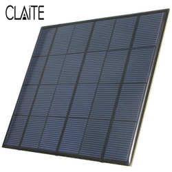 Venta caliente 3.5 W 6 V 583mA silicio monocristalino epoxi mini panel solar DIY Sistema Solar módulo solar celdas batería cargador de teléfono