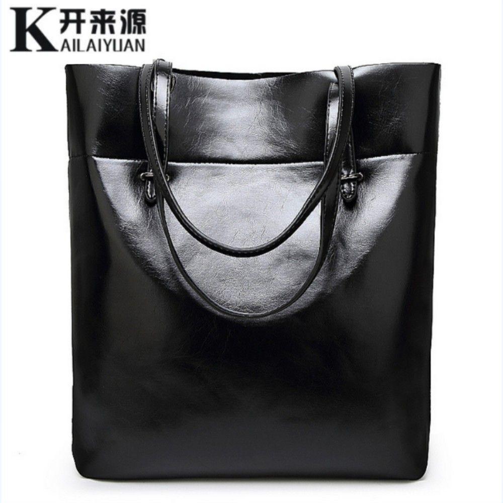 KLY 100% Echtem leder Frauen handtaschen 2018 Neue Einfache mode schulter diagonal beiläufige handtasche Schulter Messenger Handtasche