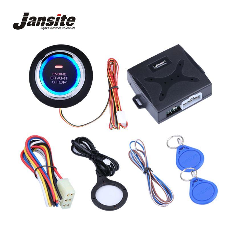 Auto Car Alarm Engine Starline Push Button <font><b>Start</b></font> Stop RFID Lock Ignition Switch Keyless Entry System Starter Anti-theft System