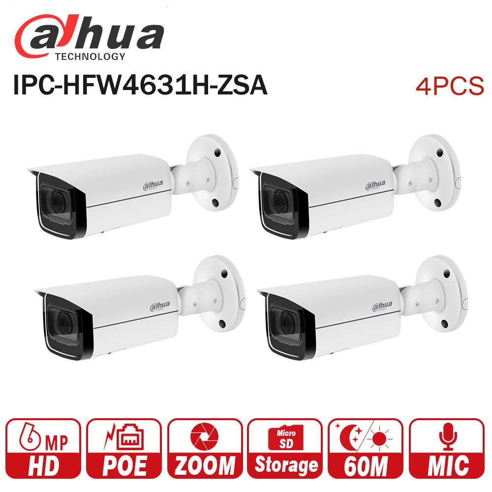Dahua 6MP IP Camera IPC-HFW4631H-ZSA Upgrade from IPC-HFW4431R-Z 4Pcs/lot with Build in Microphone SD Card slot PoE Camera 6MP