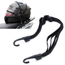 Motocicleta flexible casco retráctil equipaje cuerda elástica Correa con 2 Ganchos 1 unid