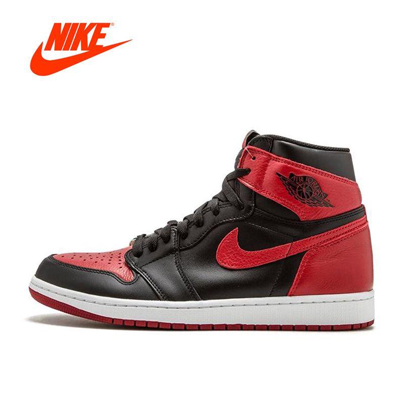 Official Nike Air Jordan 1 OG Banned AJ1 Breathable Men's Basketball Shoes Sports Sneakers
