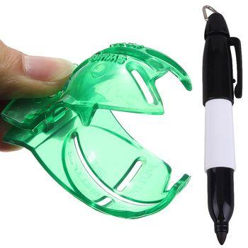 Мяч для гольфа маркер для рисования линий с ручкой Инструмент шаблон для рисования выравнивание маркеры класть линии Клубные аксессуары