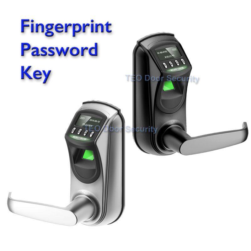 ZK Software L7000 QL70 Digital Fingerprint Lock OLED Diaplay Emergency Battery for Backup American Standard Single Latch