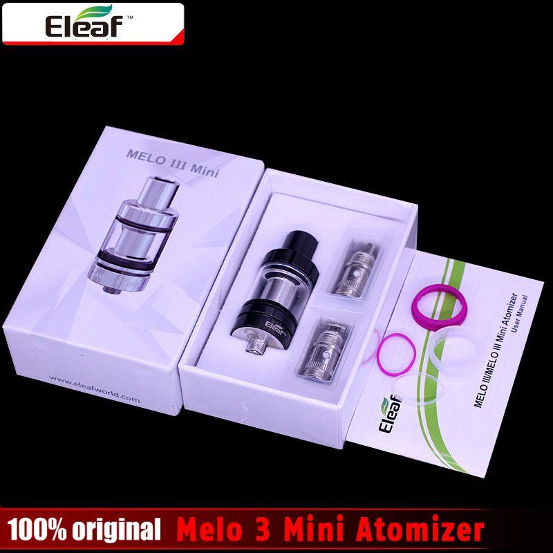 100% original eleaf Melo 3 Mini atomizador 2 ml capacidad 22mm diámetro Melo III mini tanque compatible para istick PICO