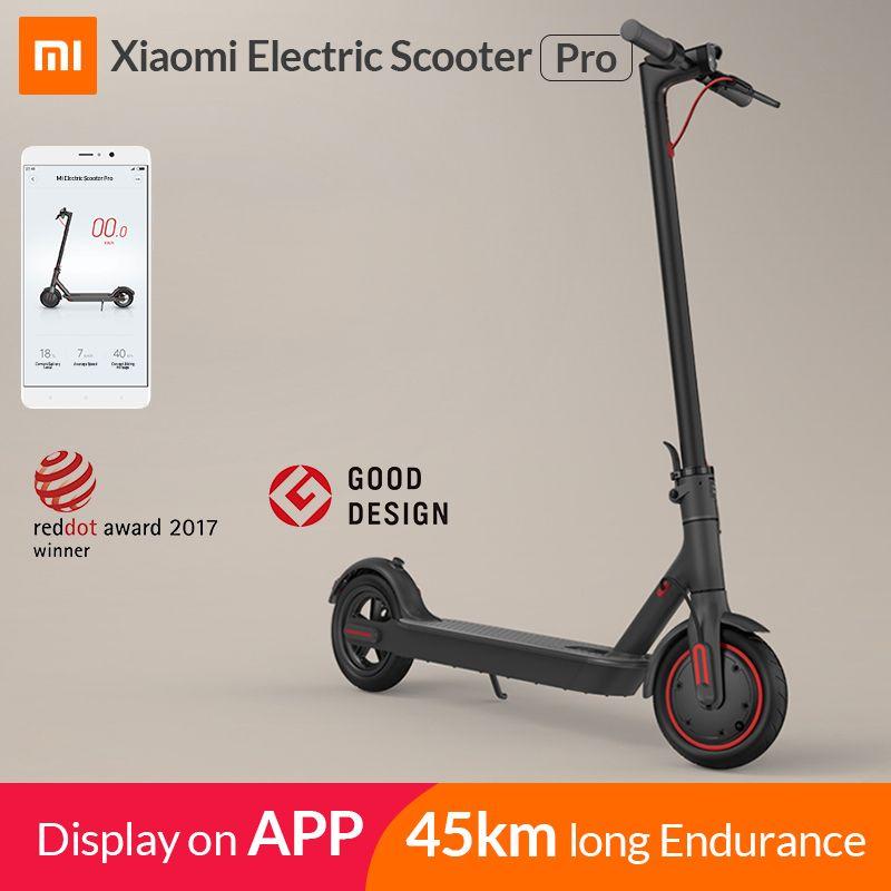 2019 Xiao mi mi Elektrische Roller mi jia M365 Pro Smart E Roller Skateboard mi ni Faltbare Hoverboard Longboard Erwachsene 45km Batterie