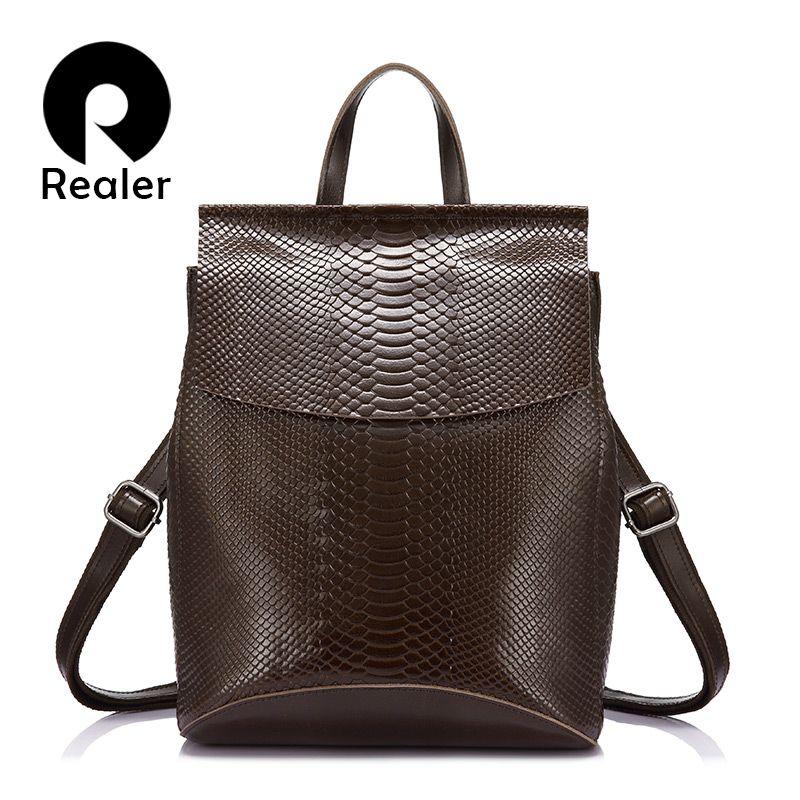 Realer женщины рюкзак спилок школьная сумка для девочек-подростков многофункциональный плеча Путешествия Рюкзак Дамы Сумка