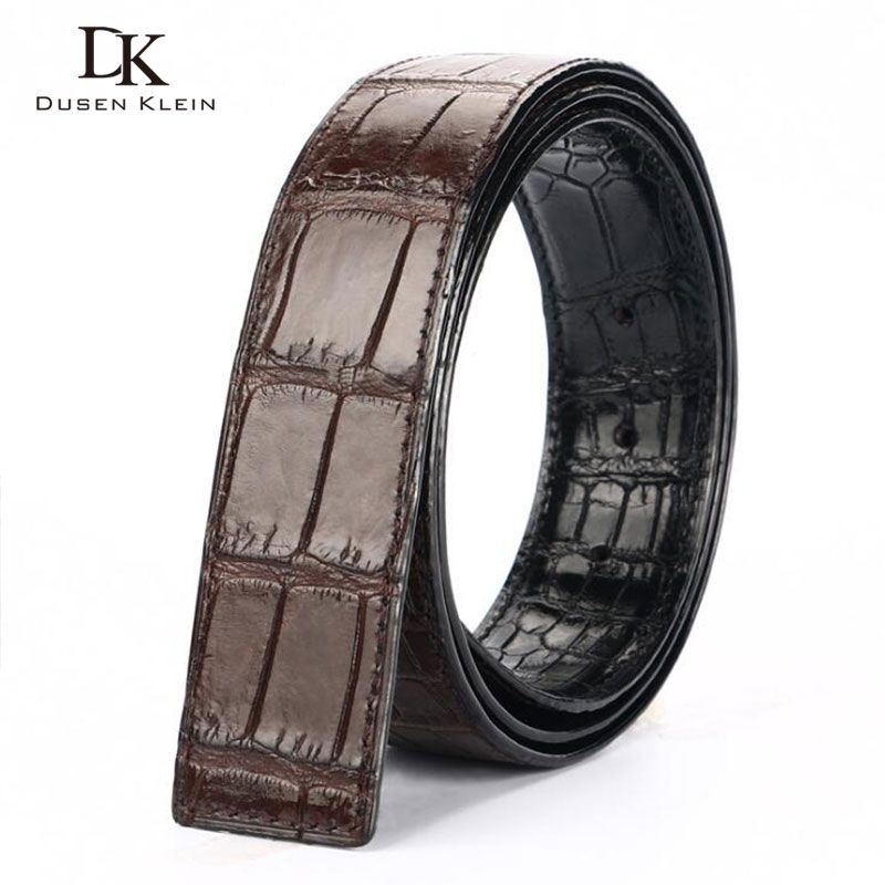 Two face Nature crocodile leather strap for belt DK new 2018 business casual genuine leather waiststrap for men DK-S403