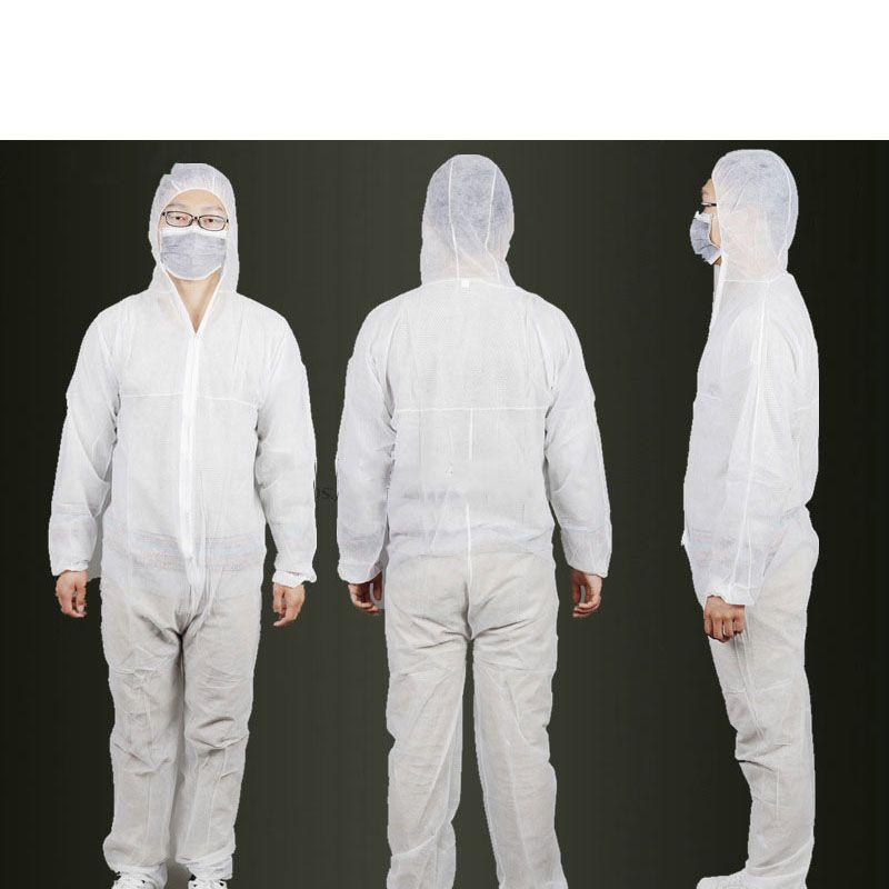 Vliesschutzkleidung Anzug Staubschutz Einweg einteiligen kleidungsstück Membran Sicherheit Arbeitskleidung B81618