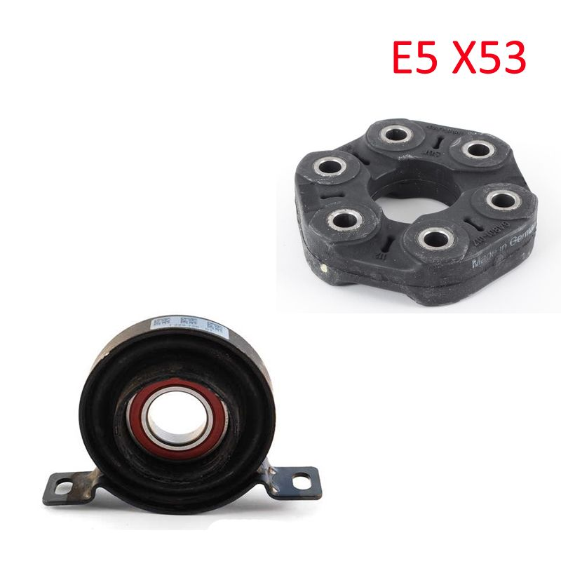 Original universal joint and center mount for BMW 26127507740 26117511454 X5 E53 2000-2002 engine M57 M54 M62 N62 one set