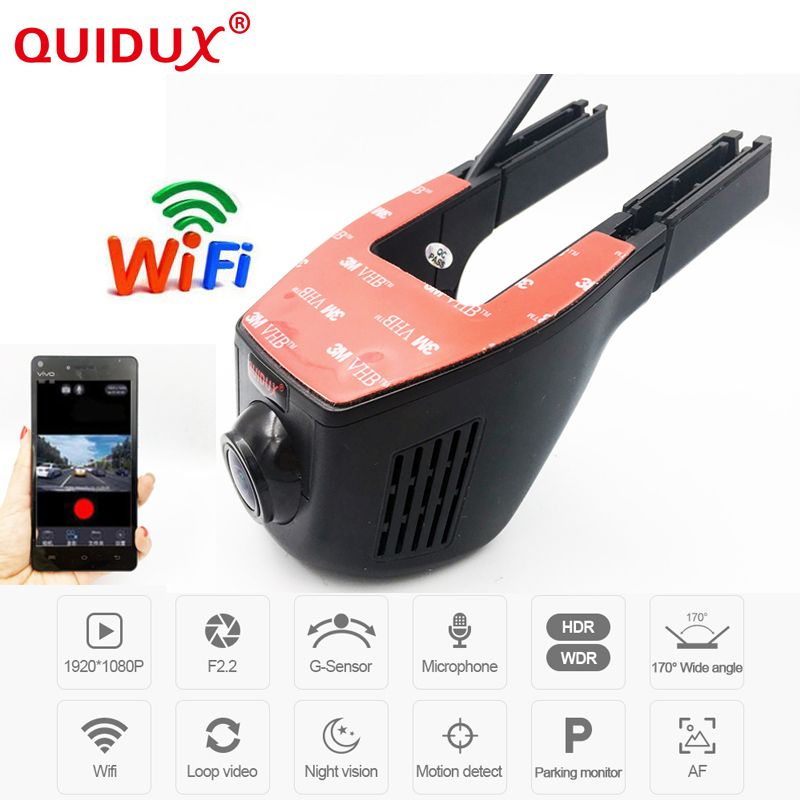 QUIDUX Novatek 96658 Full HD 1080P Universal Car DVR Wifi Camera Car DVRS Video Recorder Monitor Dash Cam Black Box Camcorder