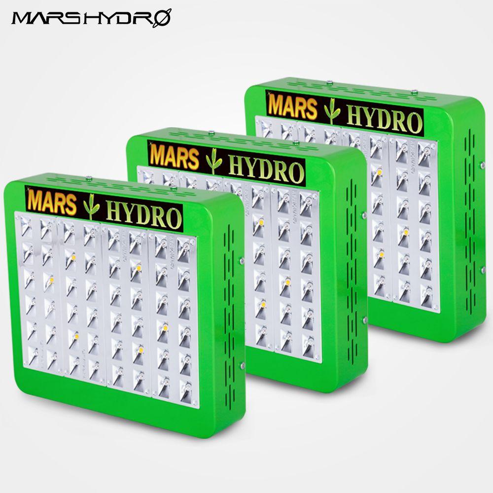 3 STÜCKE Mars Hydro Reflektor 240 watt LED Wachsen Licht Lampe Veg Blüten Indoor-Anlage Vollspektrum