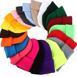 2018 зимние Шапки для новые женские шапочки вязаные однотонные милые шляпа Обувь для девочек осень, для женщин шапочка Кепки S теплые капот да...