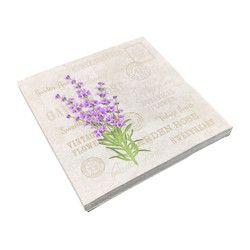 Vintage lavanda flor sello papel servilletas café & Party Tissue servilletas Decoupage decoración papel 33 cm * 33 cm 20 unids/pack/lot