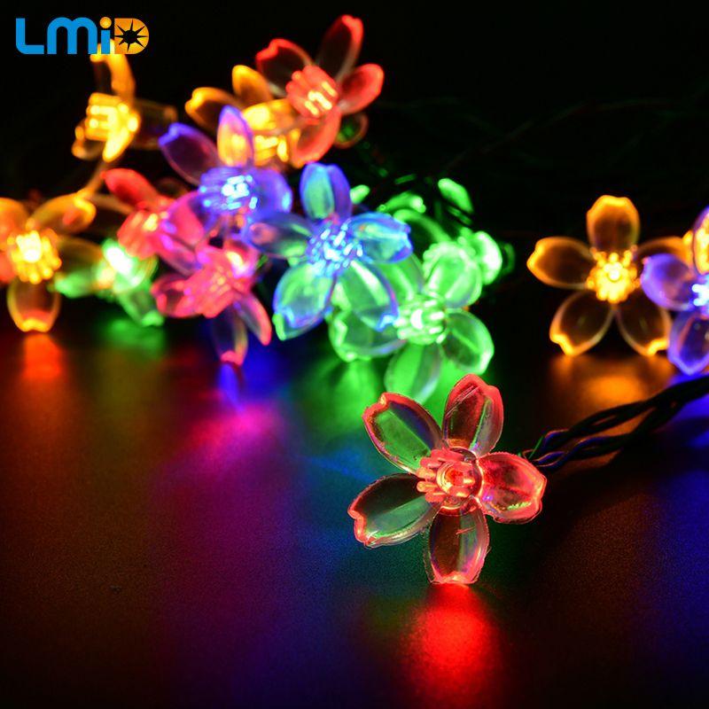 LMID lampes solaires fleur fleur lumières décoratives étanche blanc fée jardin extérieur noël solaire lumière LED