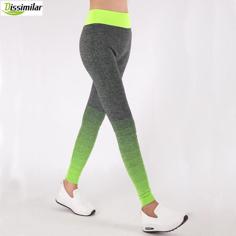 DISSEMBLABLES Femmes Fitness Ombre Pantalon Activewear Minceur Sans Soudure Leggings High Rise Entraînement 6 couleurs
