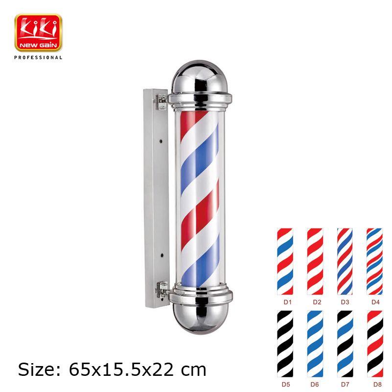 317D muster Roating edelstahl Barber Pole mit lampe. Schönheitssalonausrüstung. friseur. Heißer verkauf