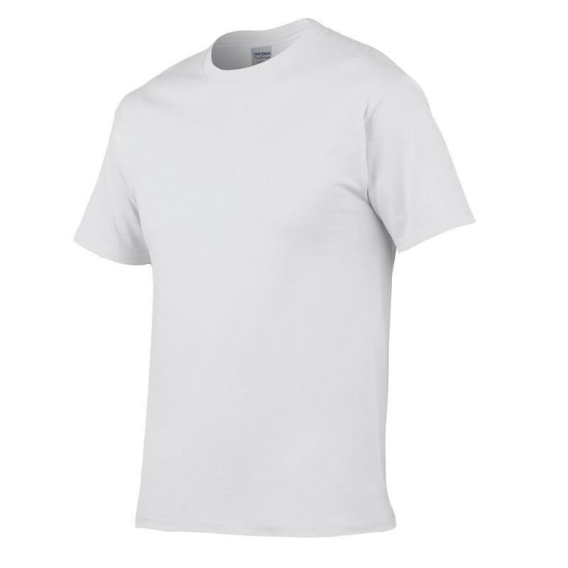 2018 Solid Color Cotton T-Shirt Men's Black White Summer T-Shirt Boy #72