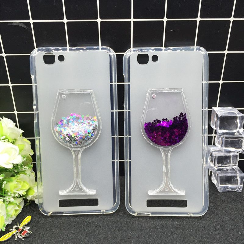 New Thick Dynamic Liquid Phone Cases for ZTE Blade A610 / V6 Max /A612 A 610 A610C A610T Soft Silicon Back Cover Sand Capa Coque