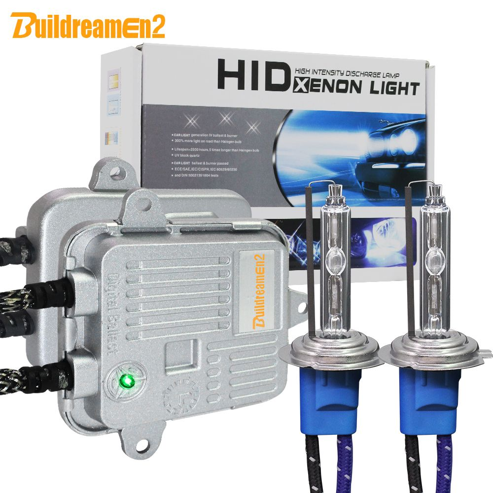 Buildreamen2 High Bright AC Xenon Kit Ballast + Bulb 55W 10000LM 5000K H1 H3 H7 H8 H9 H11 9005 9006 Car Light Headlight Fog Lamp