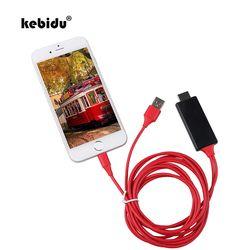 Kebidu 1.8 M 8 Pin untuk HDMI Kabel HD 1080 P HDMI Converter Adaptor Kabel USB Kabel untuk HDTV TV Digital AV untuk iPhone untuk IOS