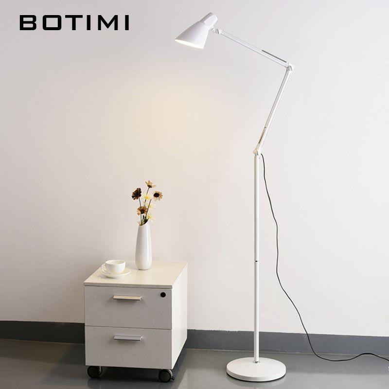 BOTIMI Living Room Floor Lamp American Led Folding Standing Light For Office Reading Luminaria de mesa Energy Saving Lighting