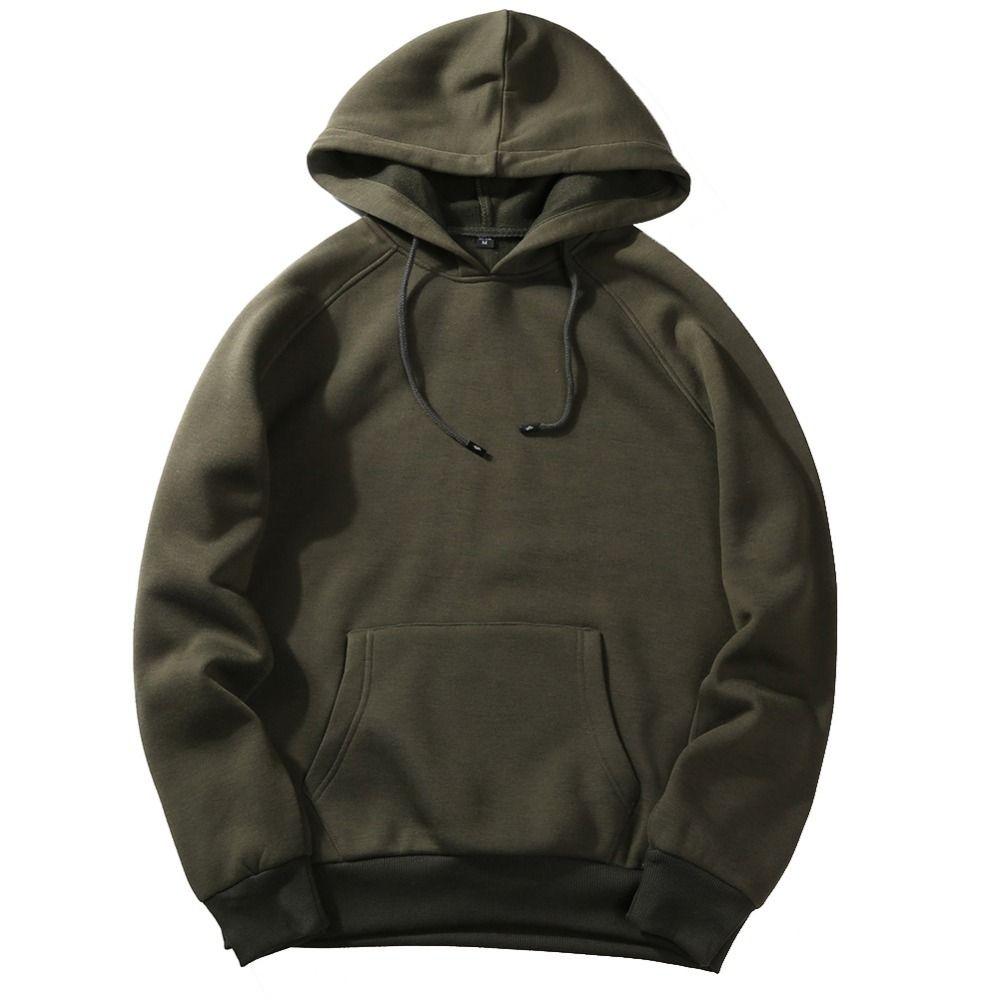 Hoodies Men 2018 Solid Color Size S-XXL 327#