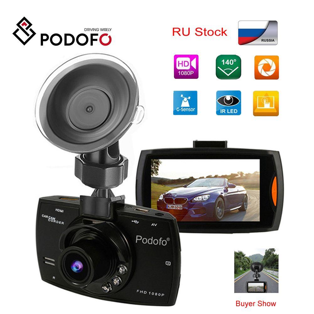 2019 Podofo A2 voiture DVR caméra G30 Full HD 1080P 140 degrés Dashcam enregistrement vidéo pour voitures Vision nocturne g-sensor Dash Cam