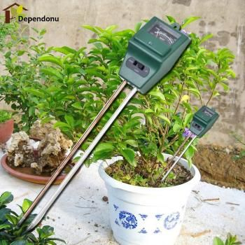 Digital PH Meter 3 in1 Flowers Plant Soil  Water Moisture Light Test Meter for Garden Plant Flower Kit Hydroponics Analyzer
