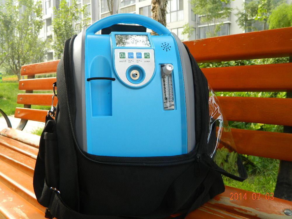 XGREEO 2 Batterien Sauerstoff Konzentrator Generator + Auto inverter + Carry Bag + Trolley