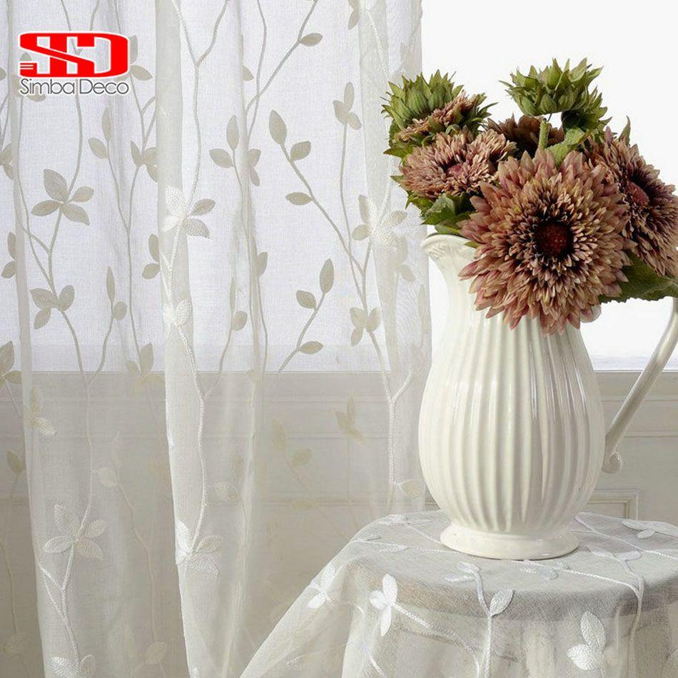 Rideaux occultants chinois pour salon chambre stores lin coton brodé rideaux panneaux fenêtre blanc tissu cuisine