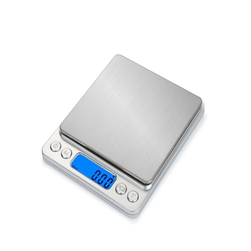 HT-I200 1000g x 0.1g Portable Stainless Steel Electronic LCD diaplay Food Scales Kitchen Jewelry Weight Digital Scale