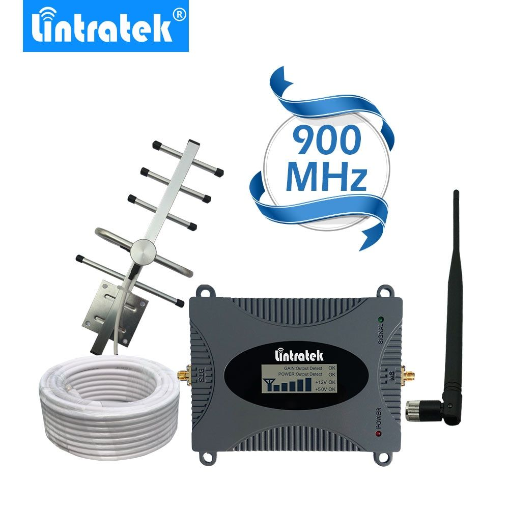 Lintratek Powerful GSM Repeater 900MHz LCD Display GSM Cellular <font><b>Signal</b></font> Booster UMTS 900MHz Mini Phone Amplifier UPGRADE #2017