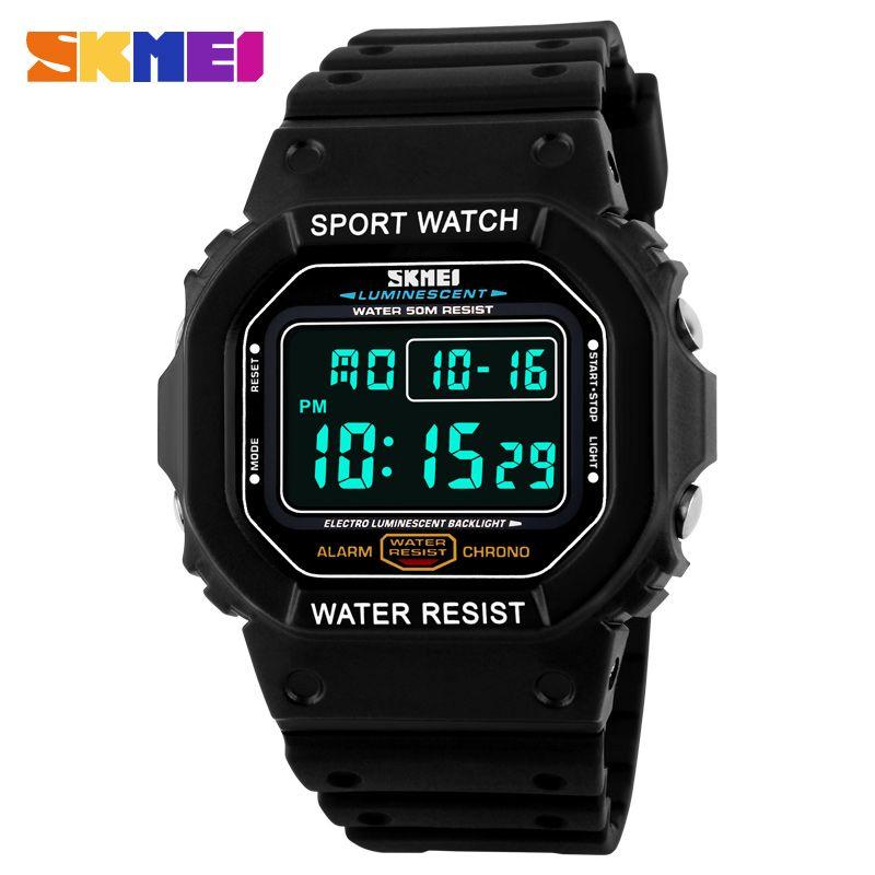2018 Fashion Retro Sports Watches Men Women Kid <font><b>Colorful</b></font> Electronic Digital Watch LED Light Dress Wristwatch relogio masculino