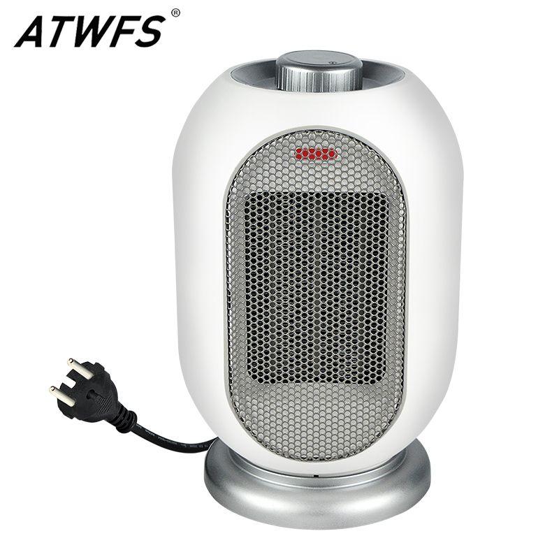 ATWFS Hause Heizung mit Fan Tragbare Handliche ECO Watt Hand Zimmer Platz Im Freien PTC Wärmer Elektrische Thermostat Heizung 1200 watt