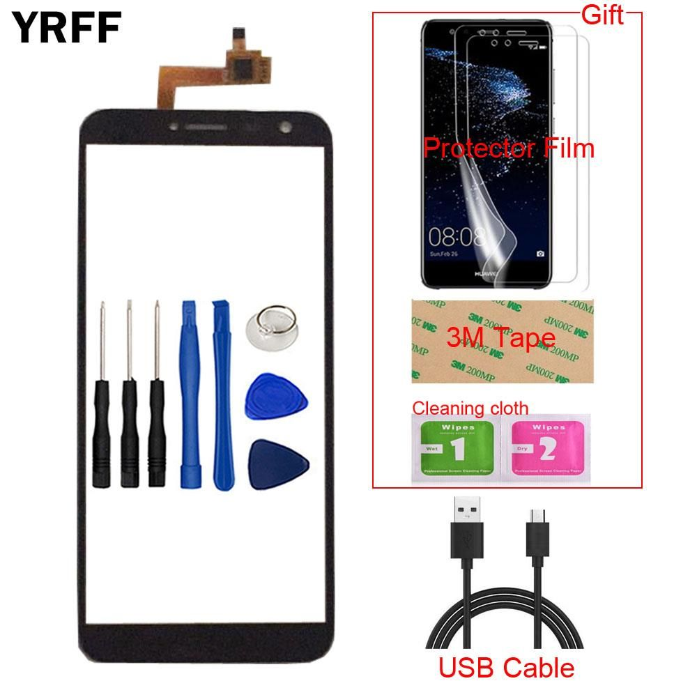 5.5'' Mobile TouchScreen Touch Screen For Oukitel C8 Touch Screen Digitizer Panel Sensor Front Glass Protector Film