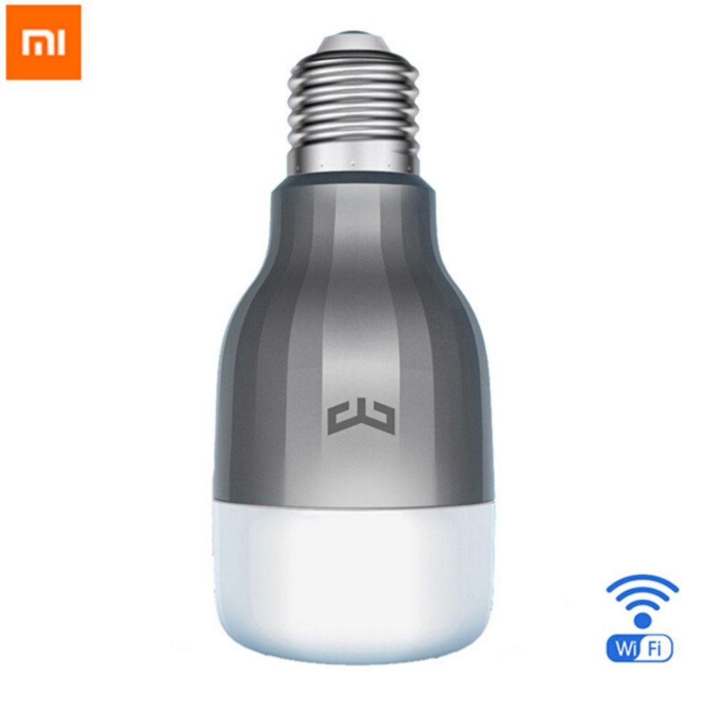 100% D'origine Xiaomi Mi Yeelight 2 LED Ampoule Coloré Version Wifi Télécommande Réglable Température de Couleur 16 Millions RGB