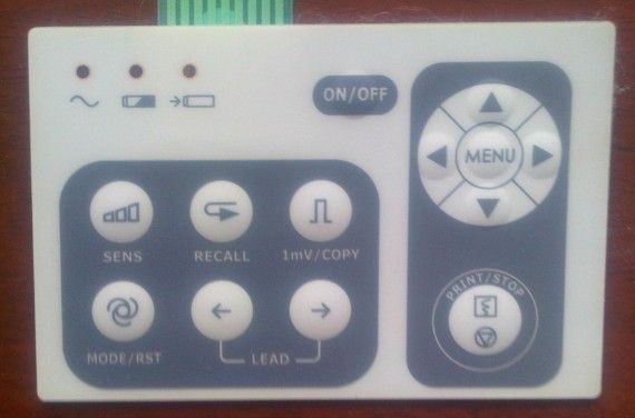 Free Shipping Keypad Suitable For EDAN SE-1 Membrane Switch Panel