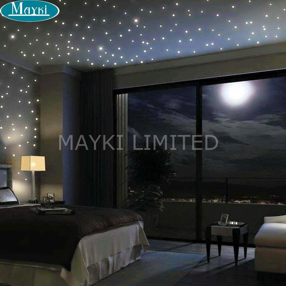 Maykit 32W RGB Led Fiber Optic Star Light Engine Multicolor Dual Ports Color Changing Led Fiber Optic Lights For Starry Ceiling