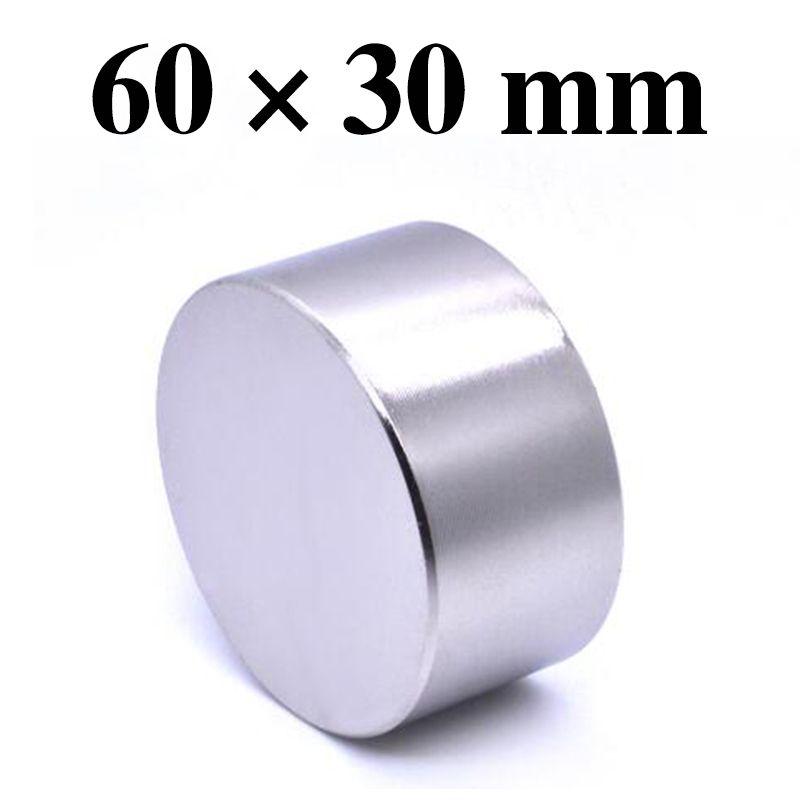 HYSAMTA 1 pièces aimant Néodyme 60x30mm gallium métal nouveau super fort aimants ronds 60*30 Neodimio aimant permanent puissant